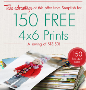 Snapfish is offering 150 FREE 4×6 photo prints (just pay shipping ...